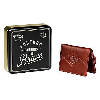Gentlemen's Hardware Double Card Holder Wallet Leather