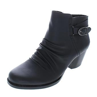 Bare Traps Womens Reliance Leather Closed Toe Ankle Fashion Boots