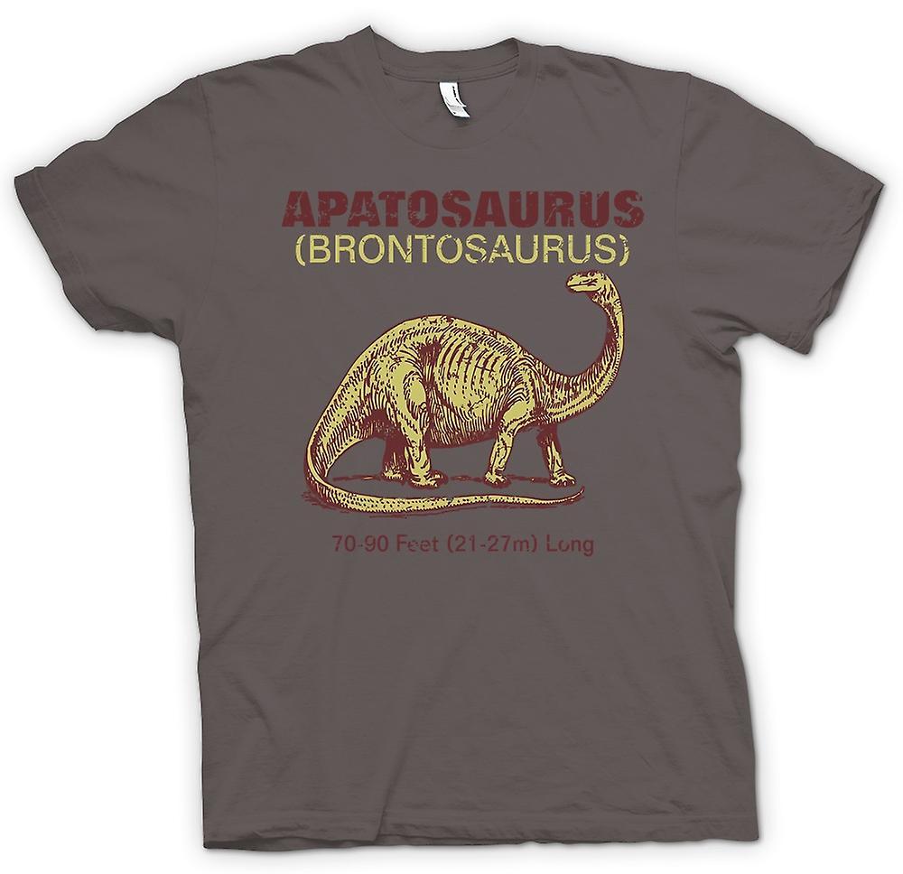 Camiseta mujer-Apatosaurus Brontosaurio fresco Dinousaur diseño