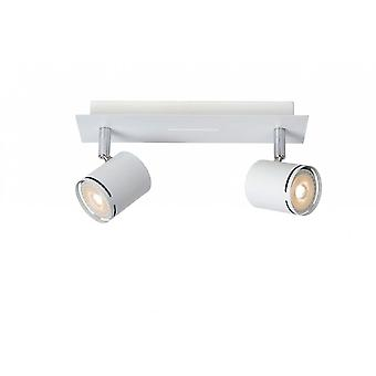 Lucide Rilou Modern Rectangle Metal White And Chrome Ceiling Spot Light