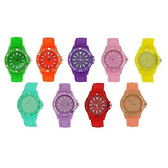 Reflex Rotating Bezel Summer Set of 9 Silicone Strap Ladies Watches