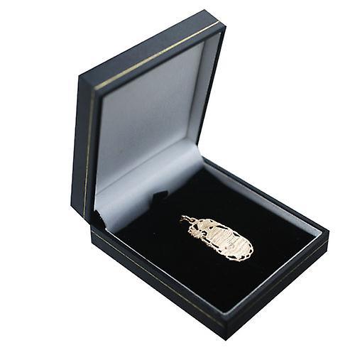 9ct Gold 33x17mm Leo Zodiac Pendant