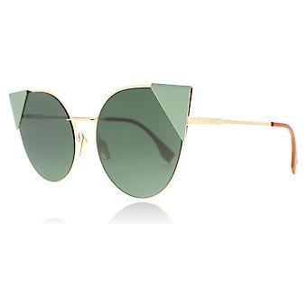 Fendi FF0190S DDB Gold Copper FF0190S Cats Eyes Sunglasses Lens Category 3 Size 57mm