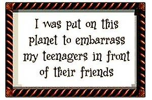 I was put on this planet to embarrass... funny fridge magnet