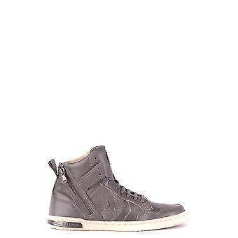 Converse Grey Leather Hi Top Sneakers