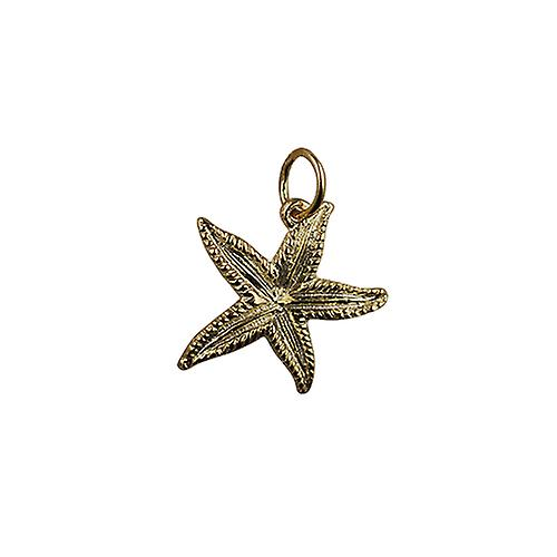 9ct Gold 19x19mm Starfish Pendant or Charm