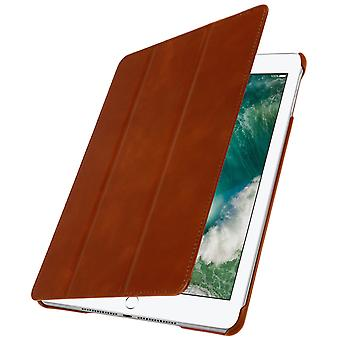 Etui iPad 9,7 (2017) Trifold case multipositions cuir marron-support 2 modes