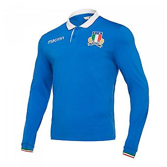 2018-19 Italy LS Rugby Home Shirt