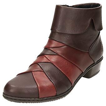 Rieker Ankle Boots Y0791-26 Low Heel Warm Lined