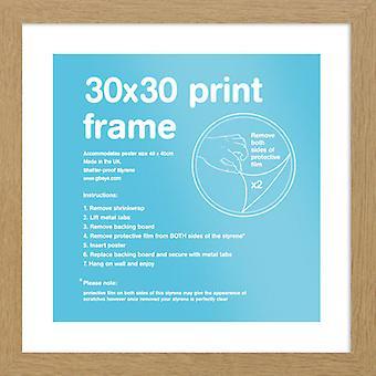 Eton eg ramme 30 x 30cm plakat / Print stel