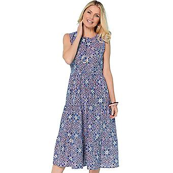 Ladies Womens Geo Print Holiday Dress