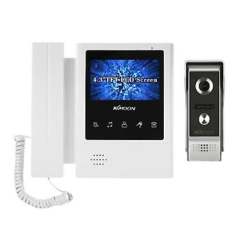4.3 inch lcd monitor wired video intercom doorbell kits support night vision camera two way audio ra