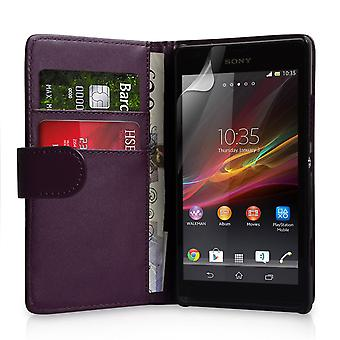 YouSave Zubehör Sony Xperia SP LeatherEffect Wallet RS lila