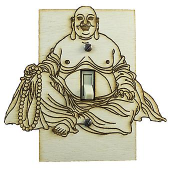 Buddha switch plate - raw wood - 5.3