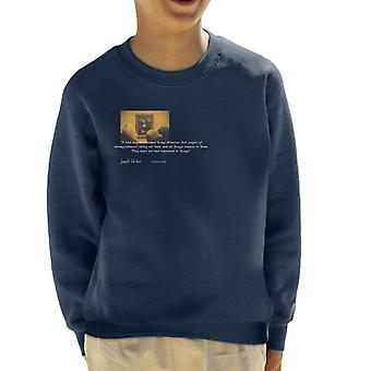A.P.O.H Leonardo Da Vinci Mona Lisa People Of Accomplishment Quote Kid's Sweatshirt