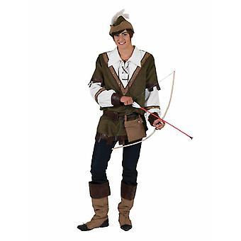 Robin Hood Men's Costume Hunter Forest Runner Vagabund Men's Costume