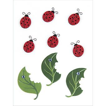Jolee's By You Large Dimensional Embellishment Lady Bugs And Leaves E5000448