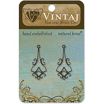 Vintaj Metal Accents 2 Pkg Latticework 30X14mm Dp0031r