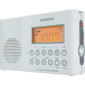 Sangean H-201 waterproof radio, Bathroom radio, Shower radio, FM, AM, White