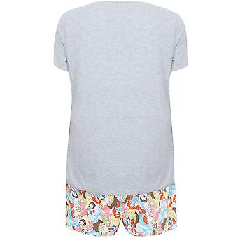 Grey Disney Princess Shorts and T-shirt Pyjama Set