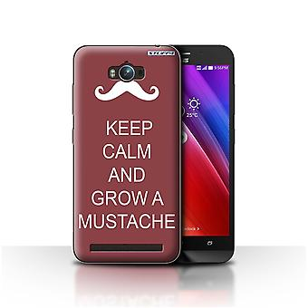 STUFF4 Case/Cover for Asus Zenfone Max ZC550KL/Grow a Mustache/Maroon/Keep Calm