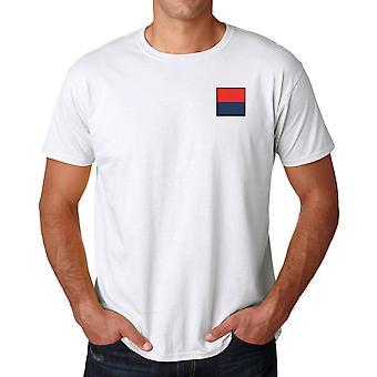 Artillería real bordado Logo TRF - oficial ejército británico algodón T Shirt