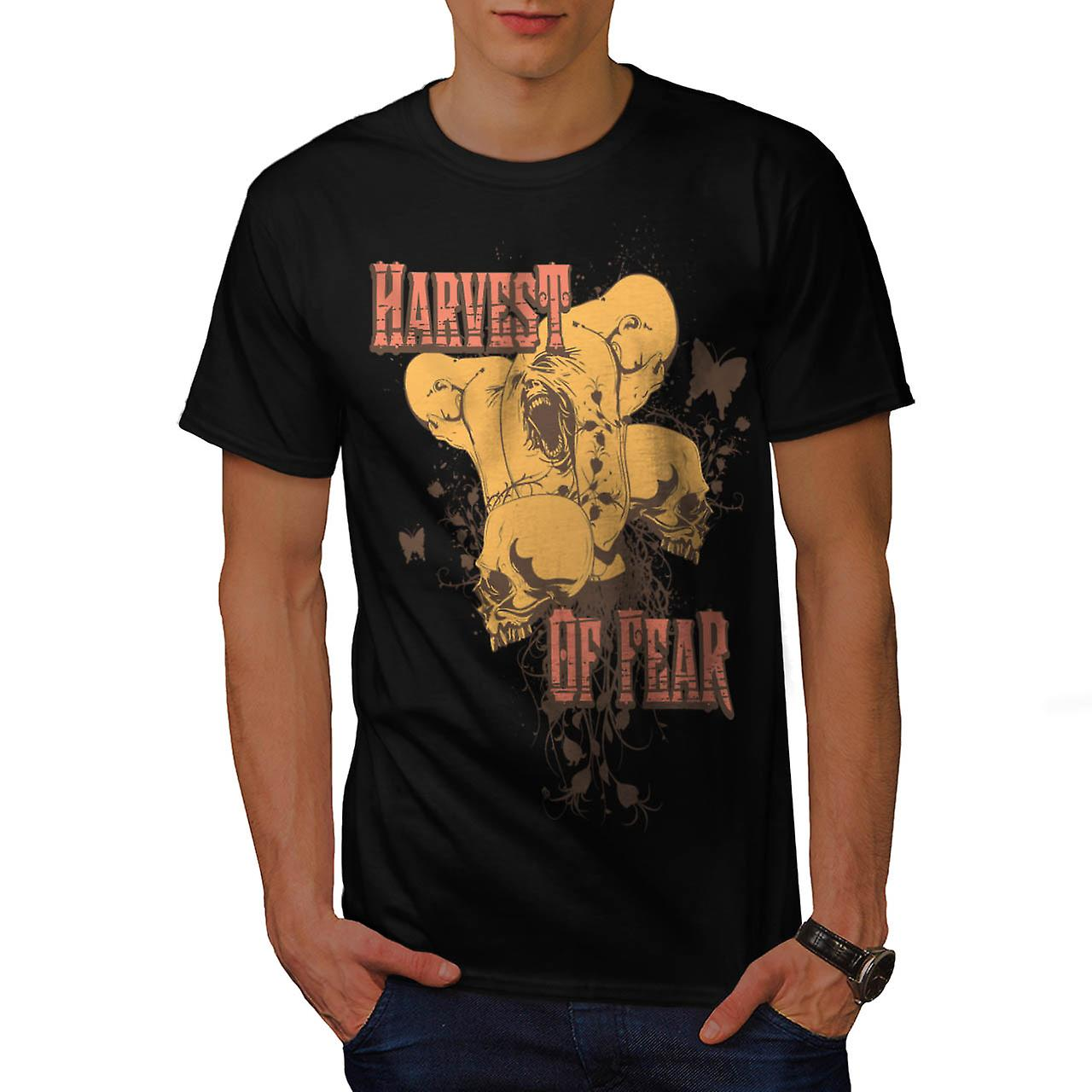 Harvest Of Fear Face Horror Fly Men Black T-shirt | Wellcoda