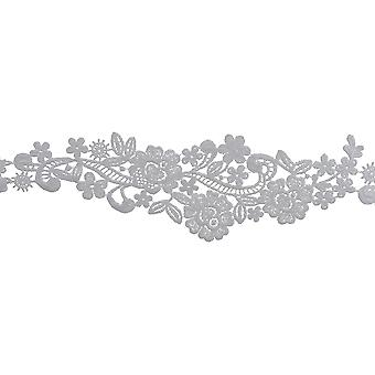 Floral Spray Venice Lace Trim 3-1/8