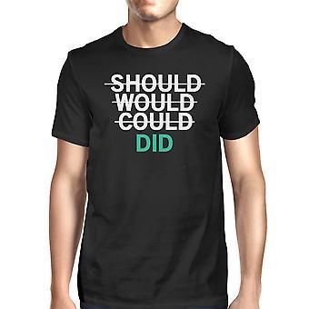 Должно бы мог сделал мужской футболки унисекс работу графического Tee