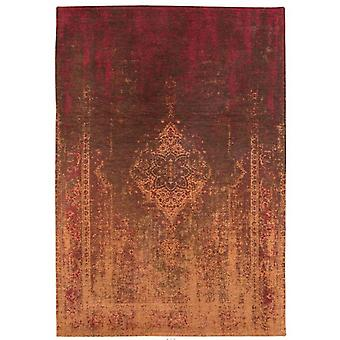 Distressed Mango Brown Medallion Flatweave Rug 230 x 330 - Louis de Poortere