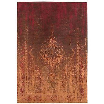 Distressed Mango Brown Medallion Flatweave Rug 230 x 330 - Louis de Poortere