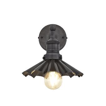 Brooklyn Vintage antik Sconce væg lampe - paraply - mørk tin - 8