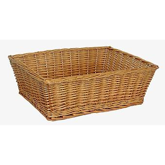 Jumbo Rectangular Wicker Tray