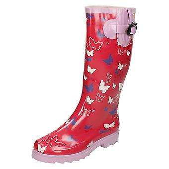 Womens Spot On Butterfly Design Wellington Boots