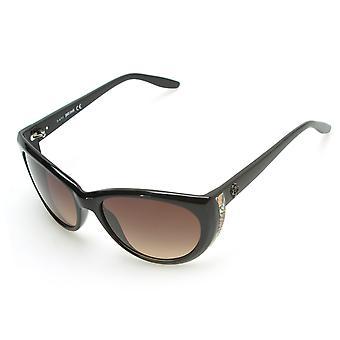 Just Cavalli Women's Cheetah Oversized Sunglasses Black
