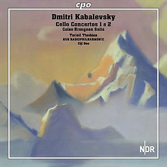 Kabalewsky - Dmitri Kabalevsky: Concertos pour violoncelle 1 & 2; Importer des colas Breugnon Suite [CD] USA