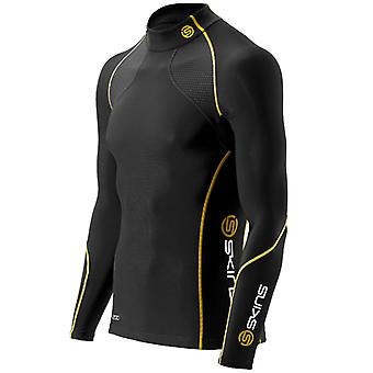 Skins Men A200 Long Sleeve Top Thermal Laufshirt Black - B60052066
