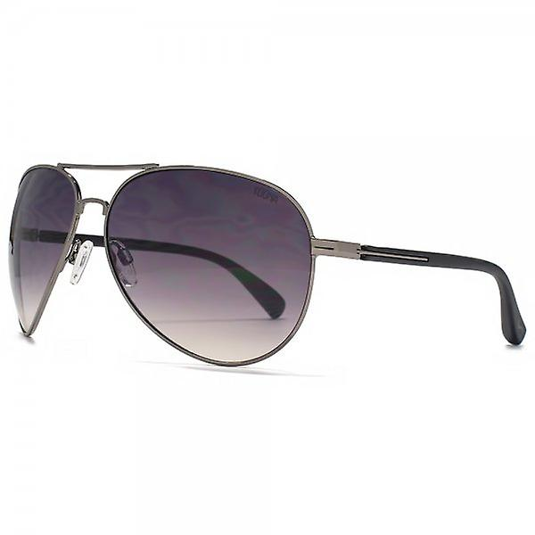SUUNA Phoenix Teardrop Pilot Sunglasses In Shiny Gunmetal