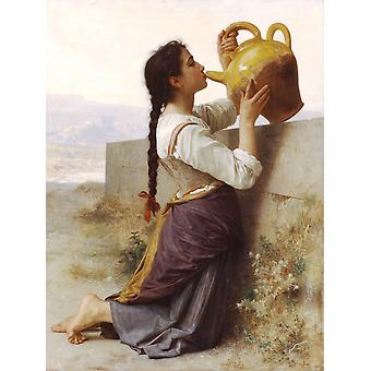 William Bouguereau - dorst (1886) Poster Print Giclee