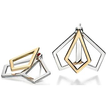 925 Silver Gold Plated Fashionable Earring