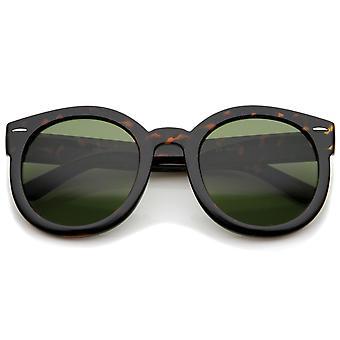 Kvinders Retro Oversize Horn kantede P3 runde solbriller 52mm