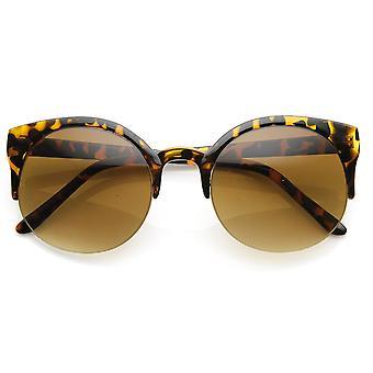 Medio retro marco P3 semi-sin montura cuerno redondo con montura gafas de sol