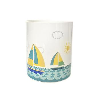 Licht-leuchten Porzellan Kerzenständer, Segelboot