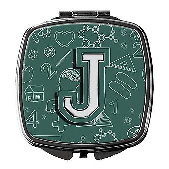 Carolines Treasures  CJ2010-JSCM Letter J Back to School Initial Compact Mirror