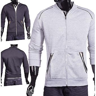 Men's bomber jacket hooded sweatshirt sweater diamond quilting elegant Zip Hoodie jacket
