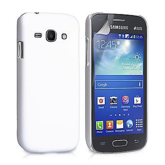 Yousave accesorios Samsung Galaxy Ace 3 híbrido estuche - blanco