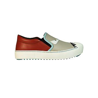 Fendi Damen 8E51104RUF07J5 Multicolour Leder Slip On Sneakers