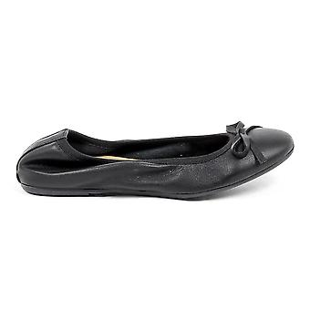 Versace 1969 Italia Womens Soft Black Leather Ballerina Shoes