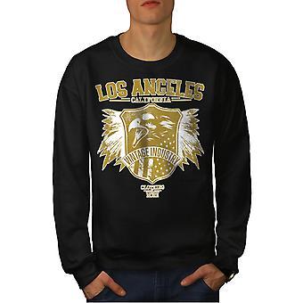 LA Eagle USA Californië mannen BlackSweatshirt | Wellcoda