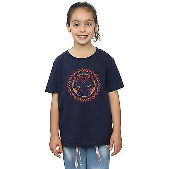 Marvel Girls Black Panther Tribal Panther Icon T-Shirt
